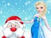 Эльза помогает Деду Морозу