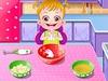 Малышка Хейзел на кухне